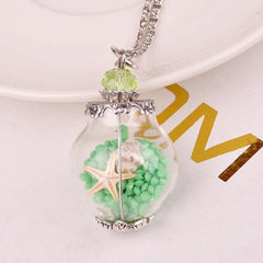 Wish Bottle Starfish Necklace - WikiWii