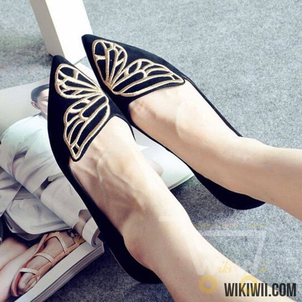 Women Loafers Flats Sneakers Butterfly - WikiWii