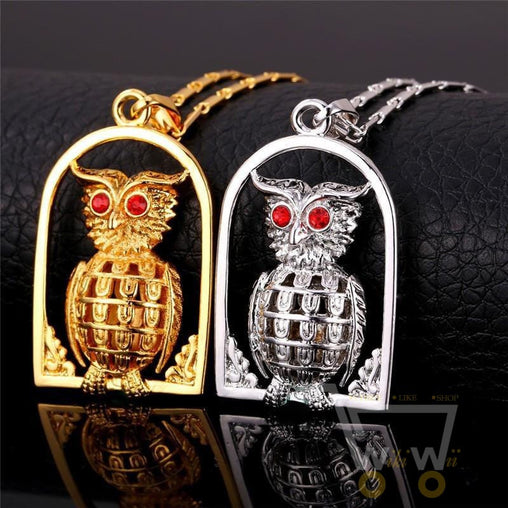 18K Gold/Platinum Plated Fashion Jewelry Owl Necklace - WikiWii