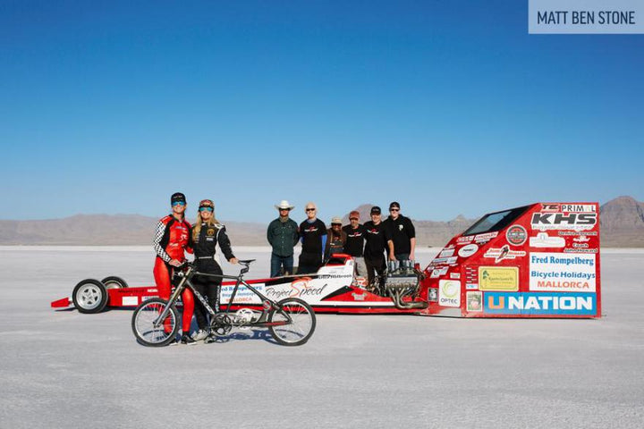 Denise Mueller Achieves Bicycling Land Speed Record of 183.9 mph With an InfoCrank