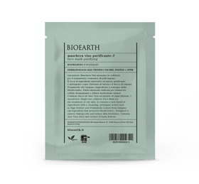 Maschera Viso Purificante in cellulosa Bioearth