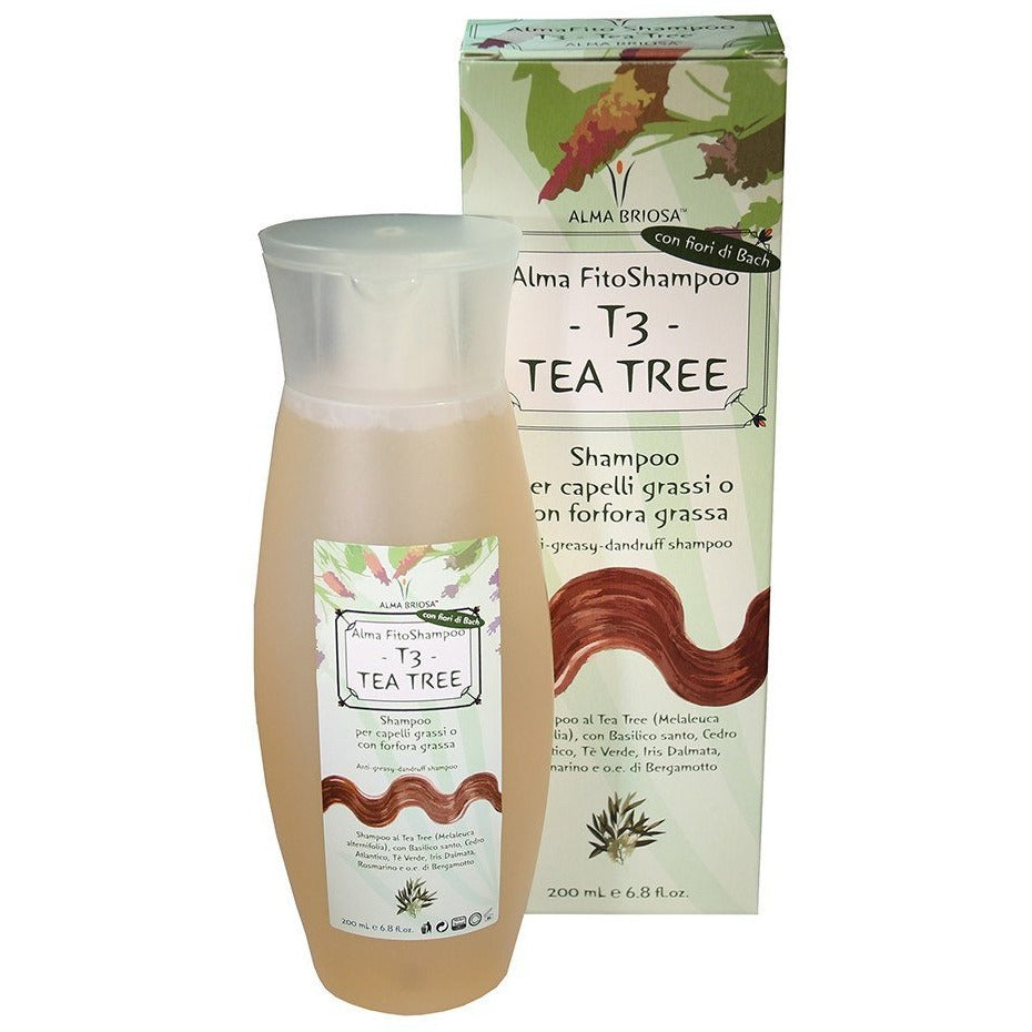 Shampoo capelli grassi Tea Tree Alma Briosa - BellaNaturale Bioprofumeria
