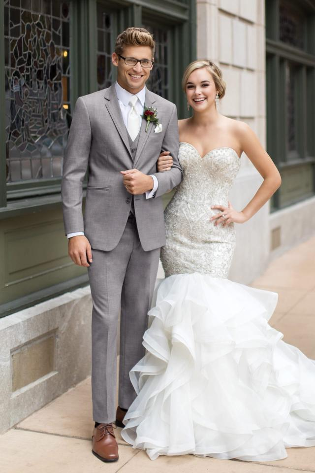 Jim's Formal Wear - 262 Heather Grey Clayton Slim Suit