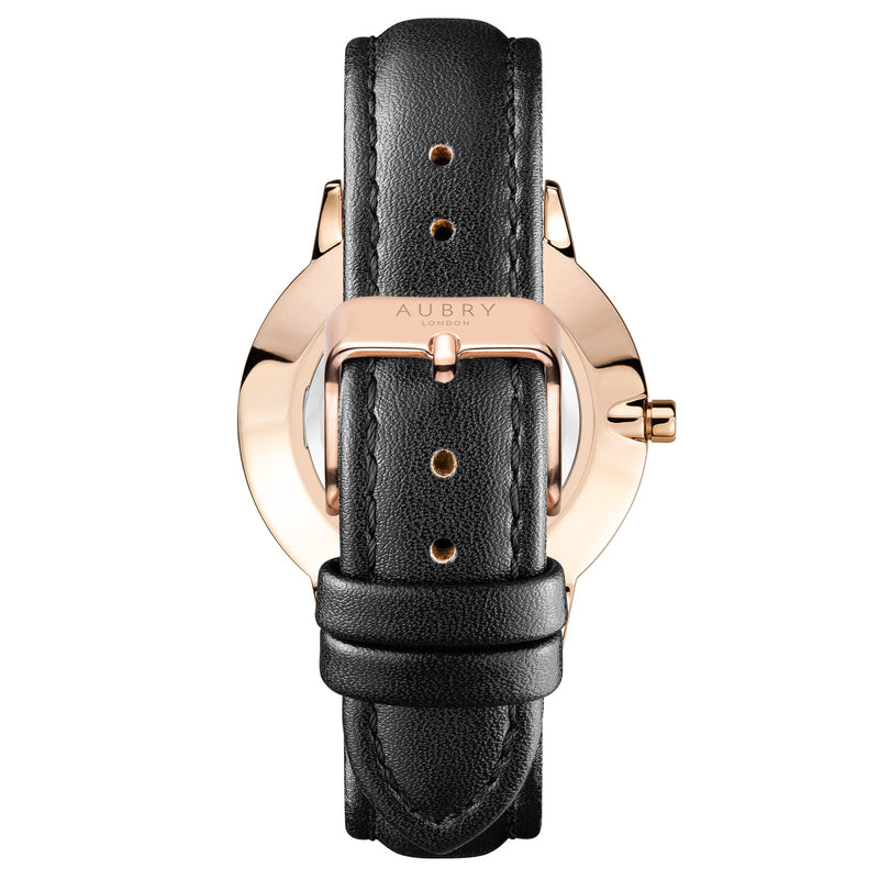 Aubry Vegan Leather Watch AL38010 Back