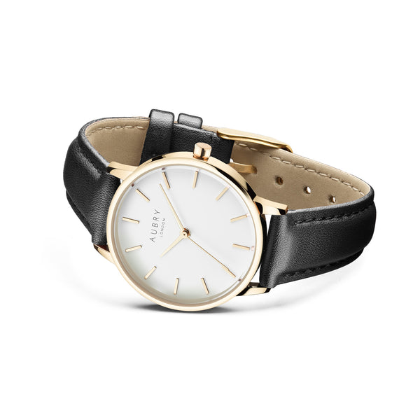 Aubry Vegan Leather Watch AL33011 Side