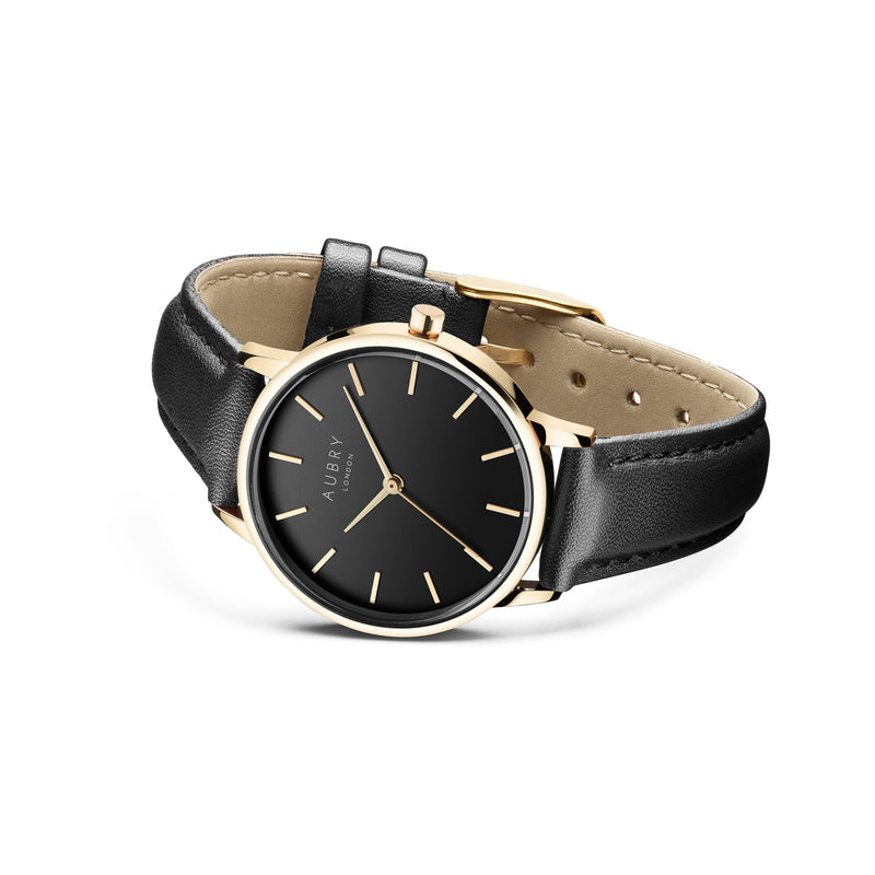 Aubry Vegan Leather Watch AL33012 Side
