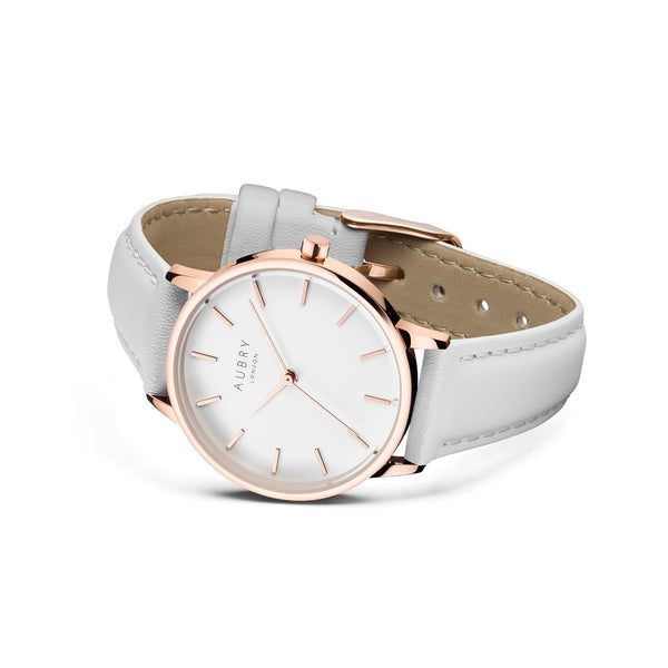 Aubry Vegan Leather Watch AL33015 Side
