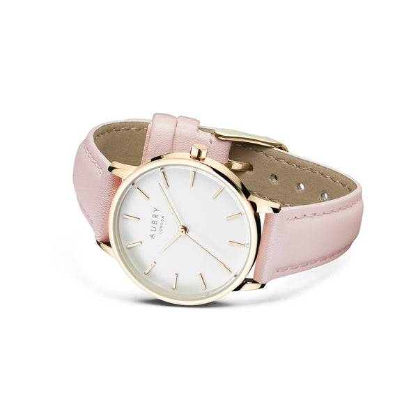 Aubry Vegan Leather Watch AL33019 Side
