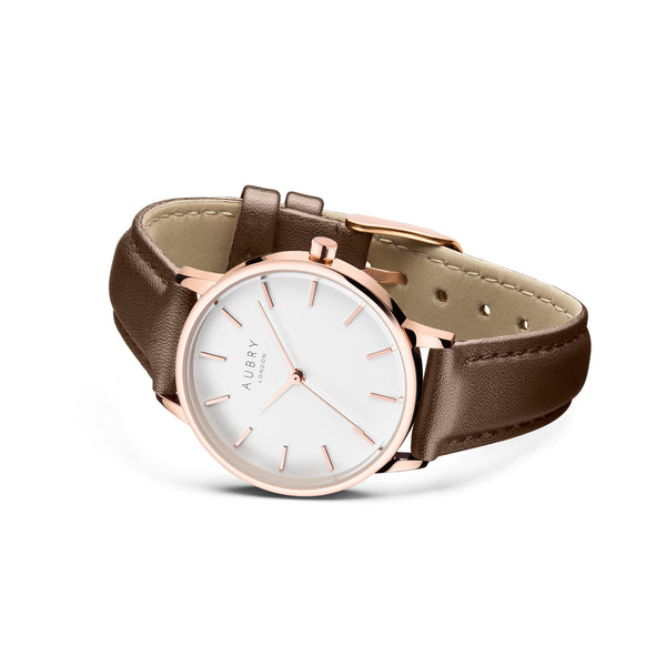 Aubry Vegan Leather Watch AL33021 Side