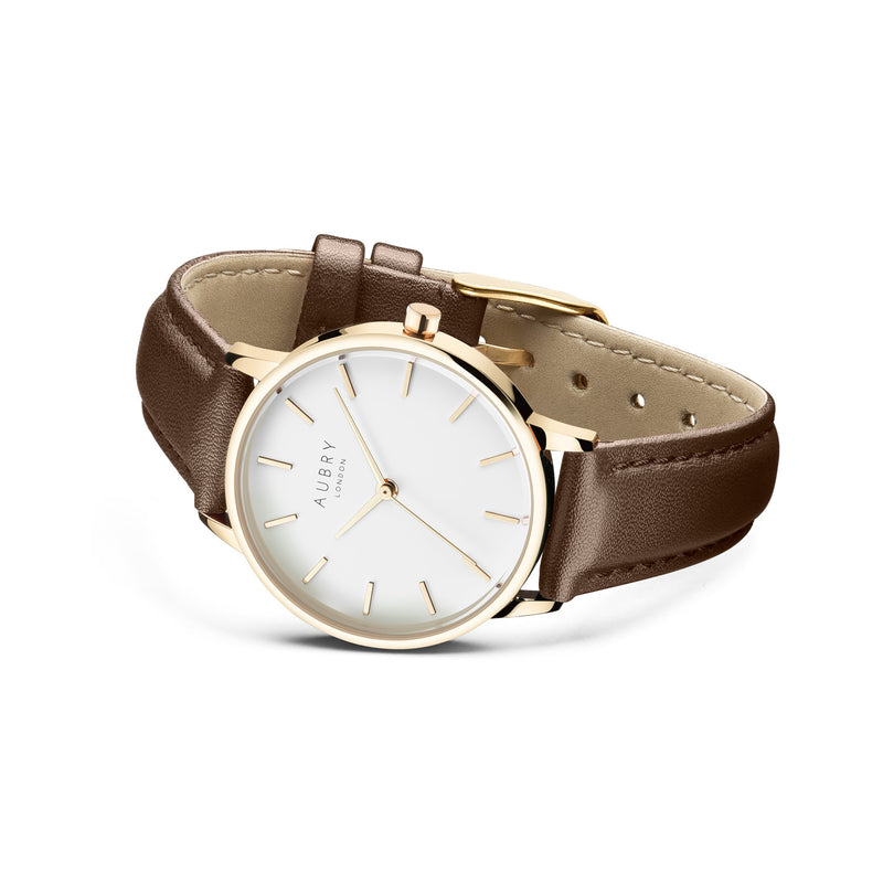 Aubry Vegan Leather Watch AL33022 Side
