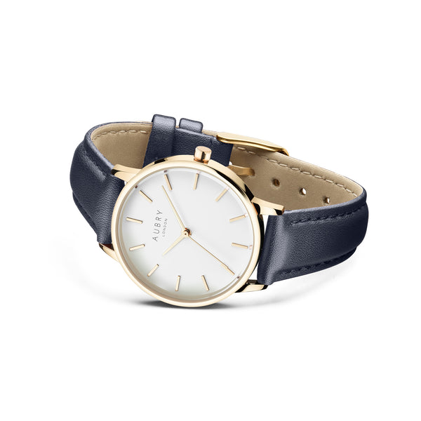 Aubry Vegan Leather Watch AL33025 Side