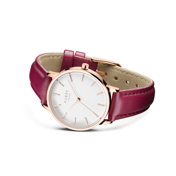 Aubry Vegan Leather Watch AL33027 Side
