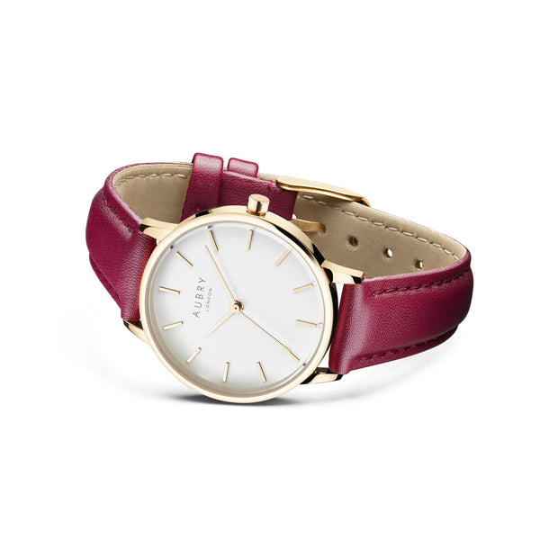 Aubry Vegan Leather Watch AL33028 Side