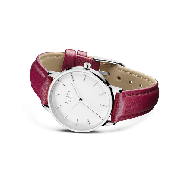 Aubry Vegan Leather Watch AL33029 Side