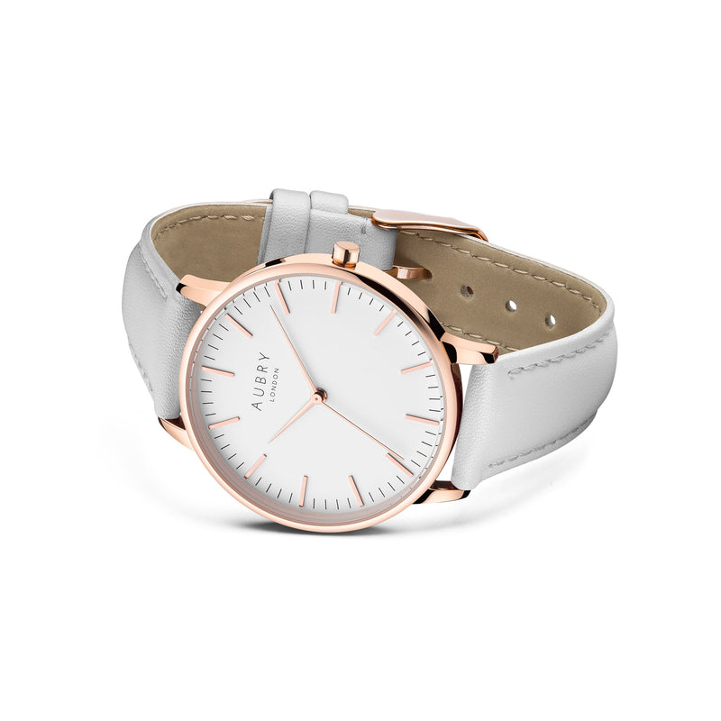 Aubry Vegan Leather Watch AL38015 Side