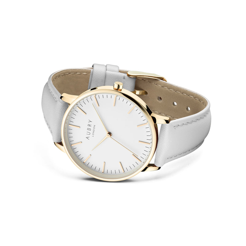 Aubry Vegan Leather Watch AL38016 Side