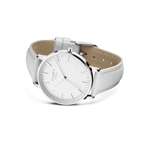 Aubry Vegan Leather Watch AL38017 Side