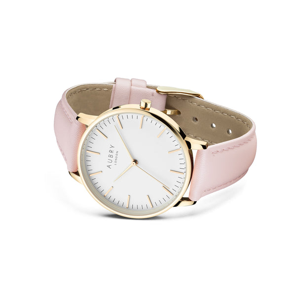 Aubry Vegan Leather Watch AL38019 Side