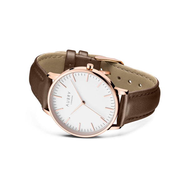 Aubry Vegan Leather Watch AL38021 Side