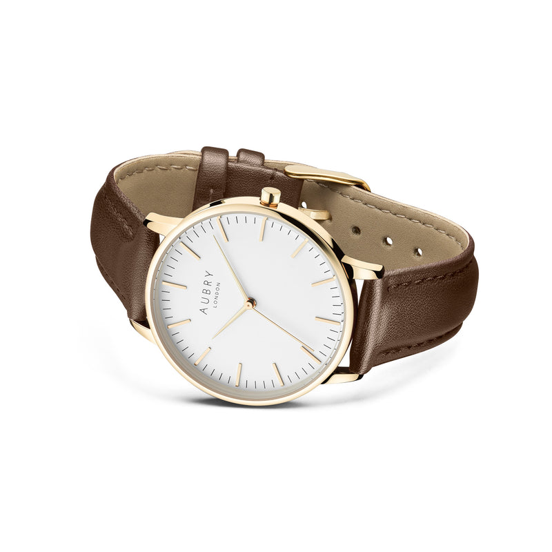 Aubry Vegan Leather Watch AL38022 Side