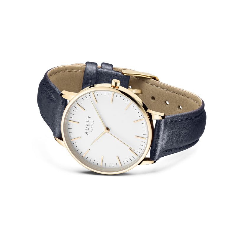 Aubry Vegan Leather Watch AL38025 Side