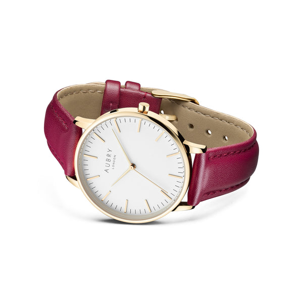Aubry Vegan Leather Watch AL38028 Side
