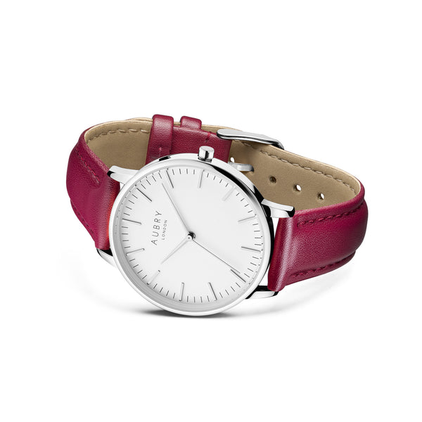 Aubry Vegan Leather Watch AL38029 Side