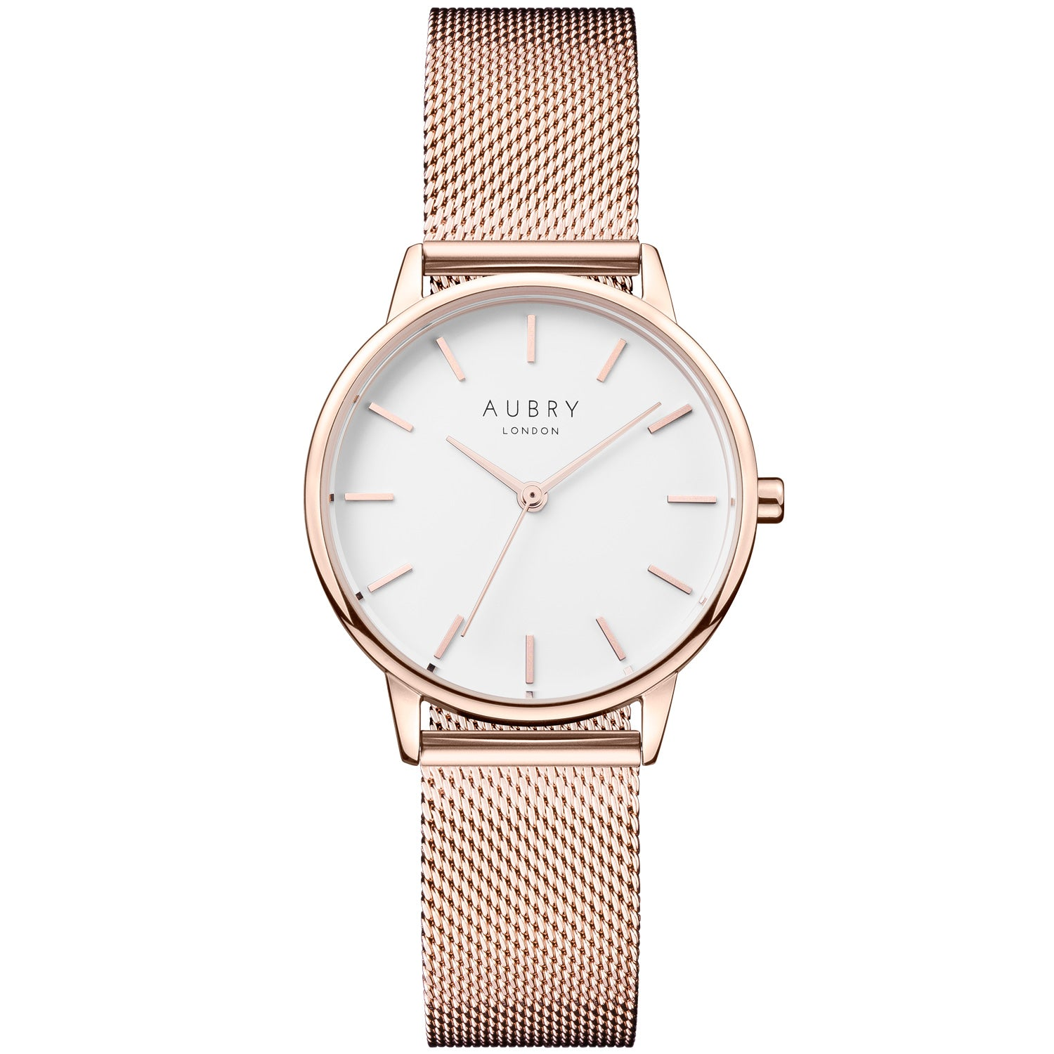 watch yellow vegan gold products mesh dial aubry watches white classic sustainable