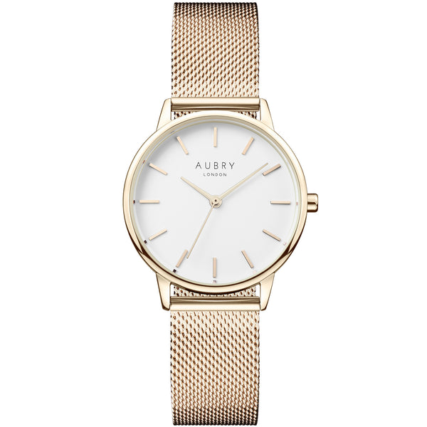 Aubry vegan watch - petite gold mesh 33mm