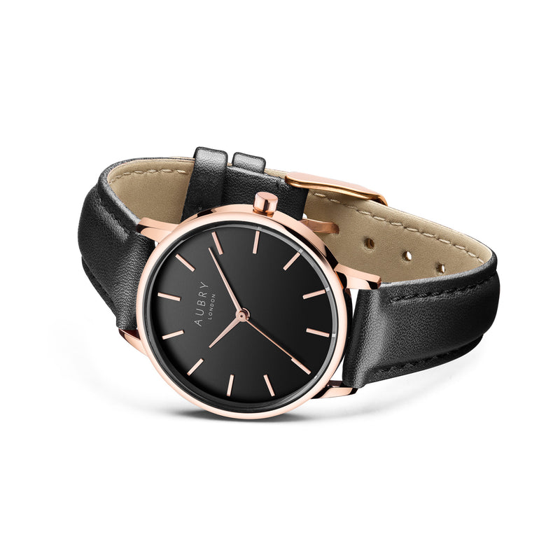 Aubry Vegan Leather Watch AL33010 Side