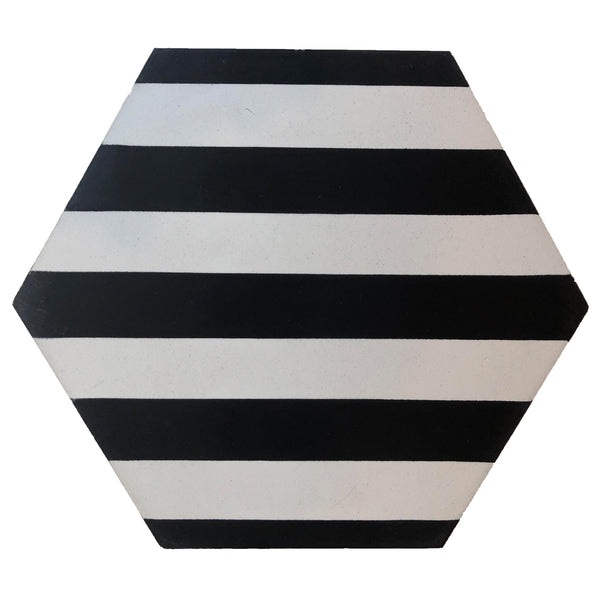 Zebra black and white stripes hexagon