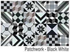 Patchwork Black White