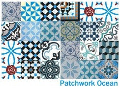 Patchwork Ocean Blue