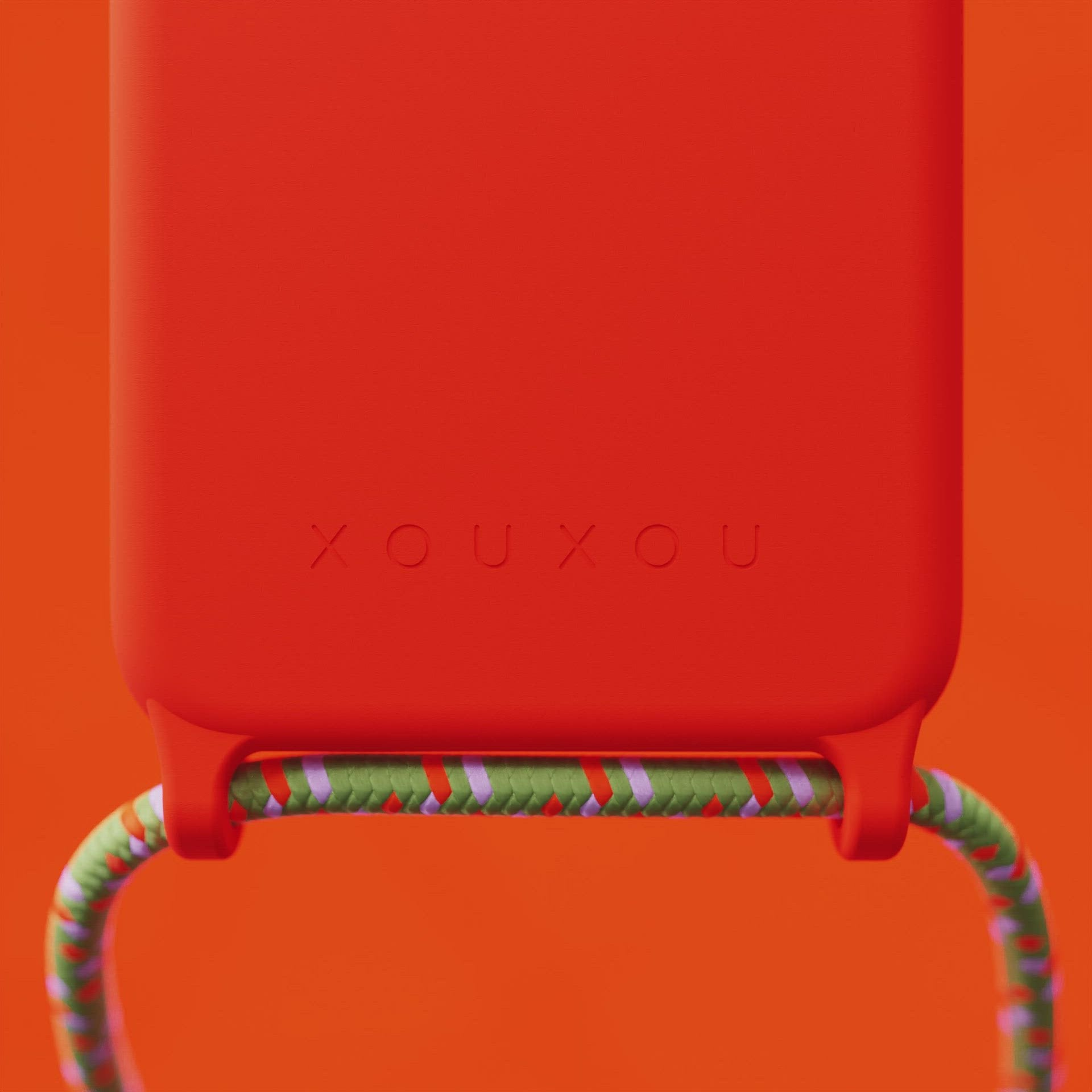 Neon Orange Silicone Case + Orange Camouflage Rope