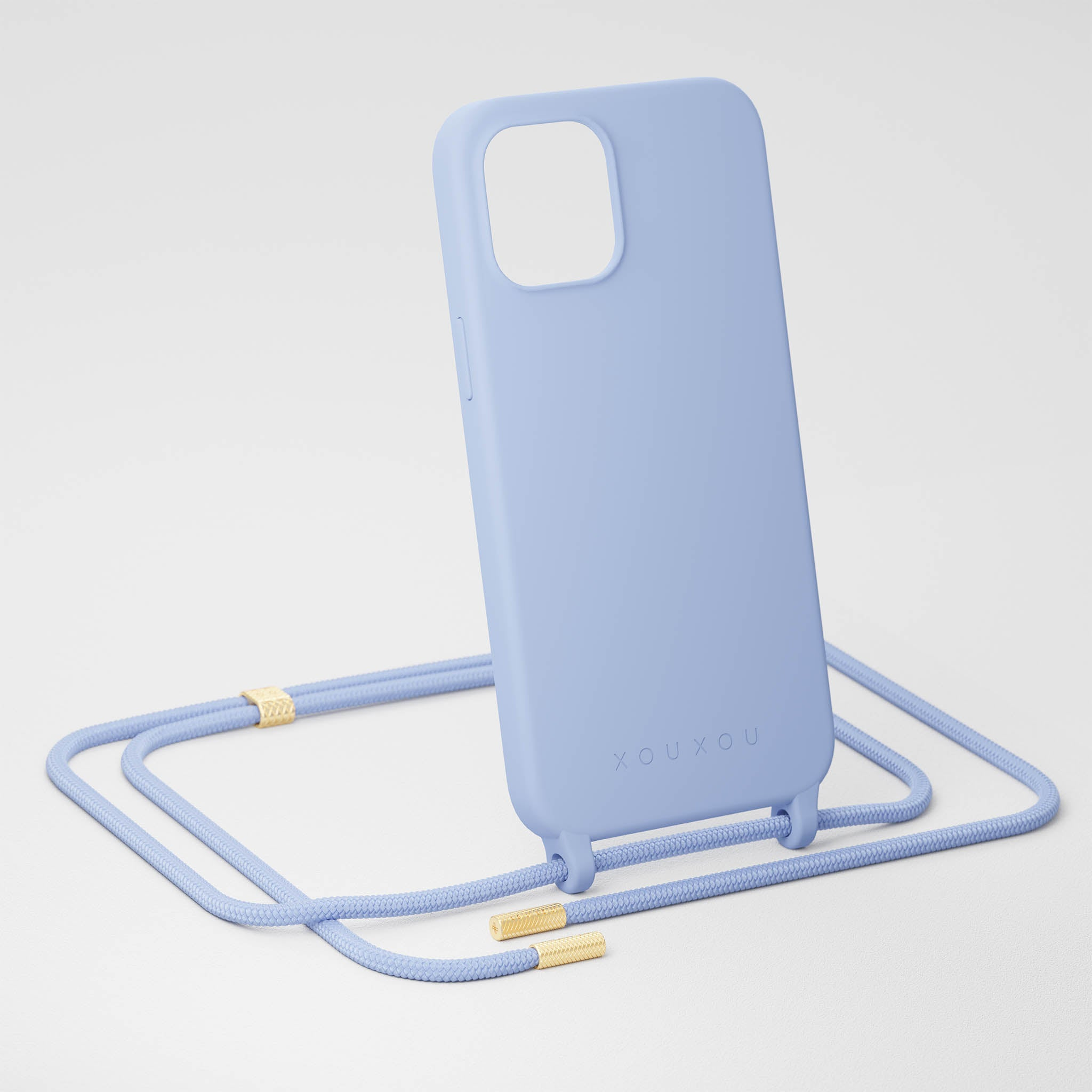 Baby Blue Silicone Case + Rope