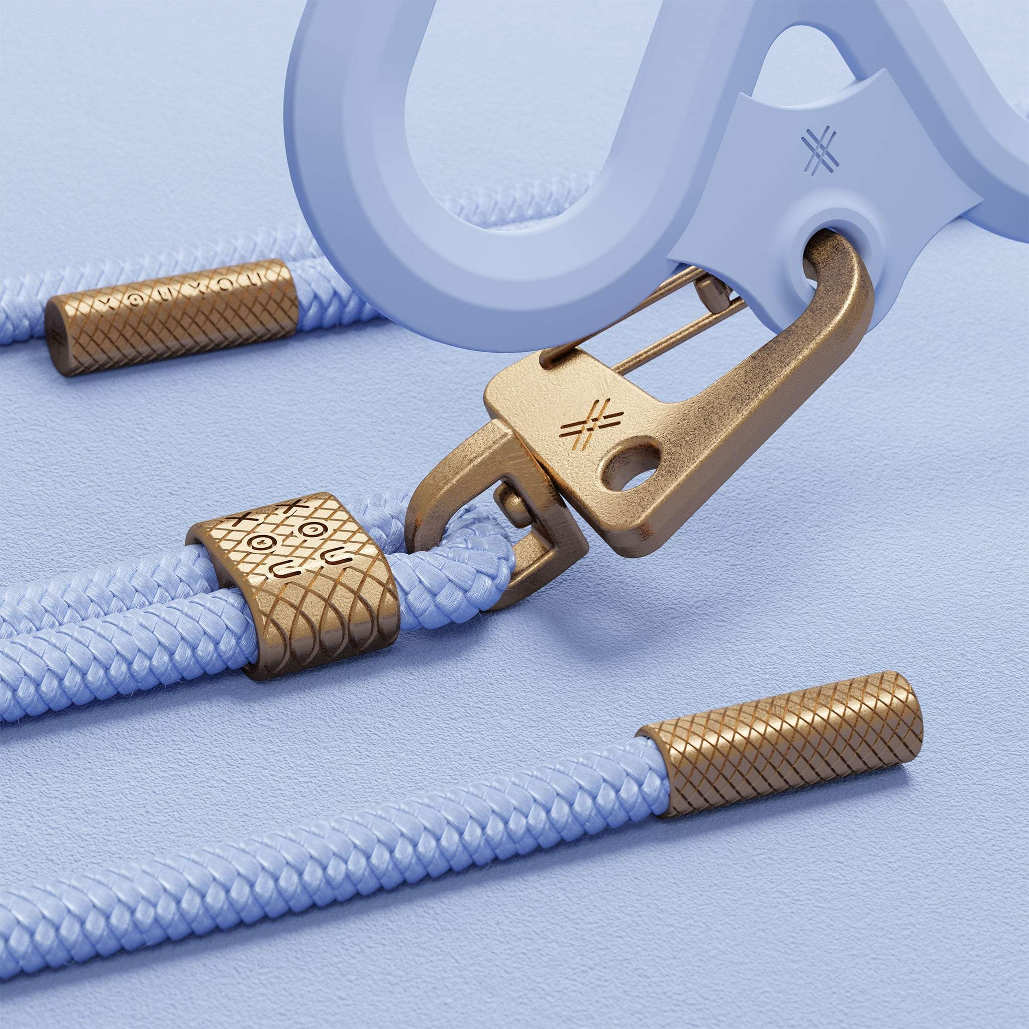 Baby Blue Silicone X + Carabiner Rope