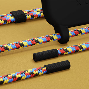 Black Silicone Case + Mondrian Rope