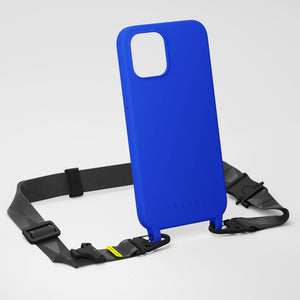 Blue Silicone Case + Black Lanyard