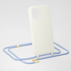 Chalk Silicone Case + Baby Blue Rope