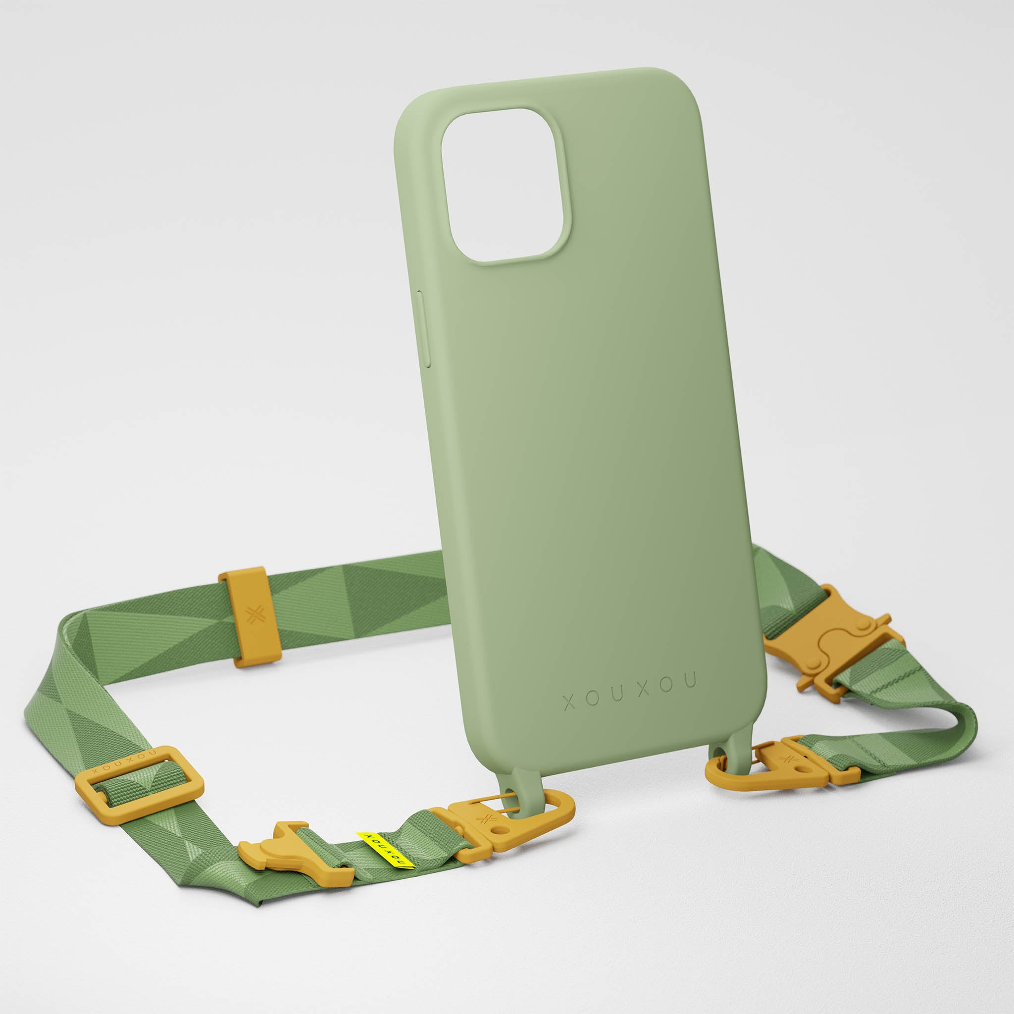 Light Olive Silicone Case + Lanyard