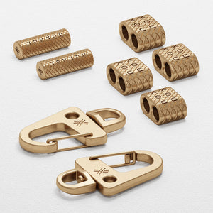 Matt Gold Carabiner Rope Metal Parts