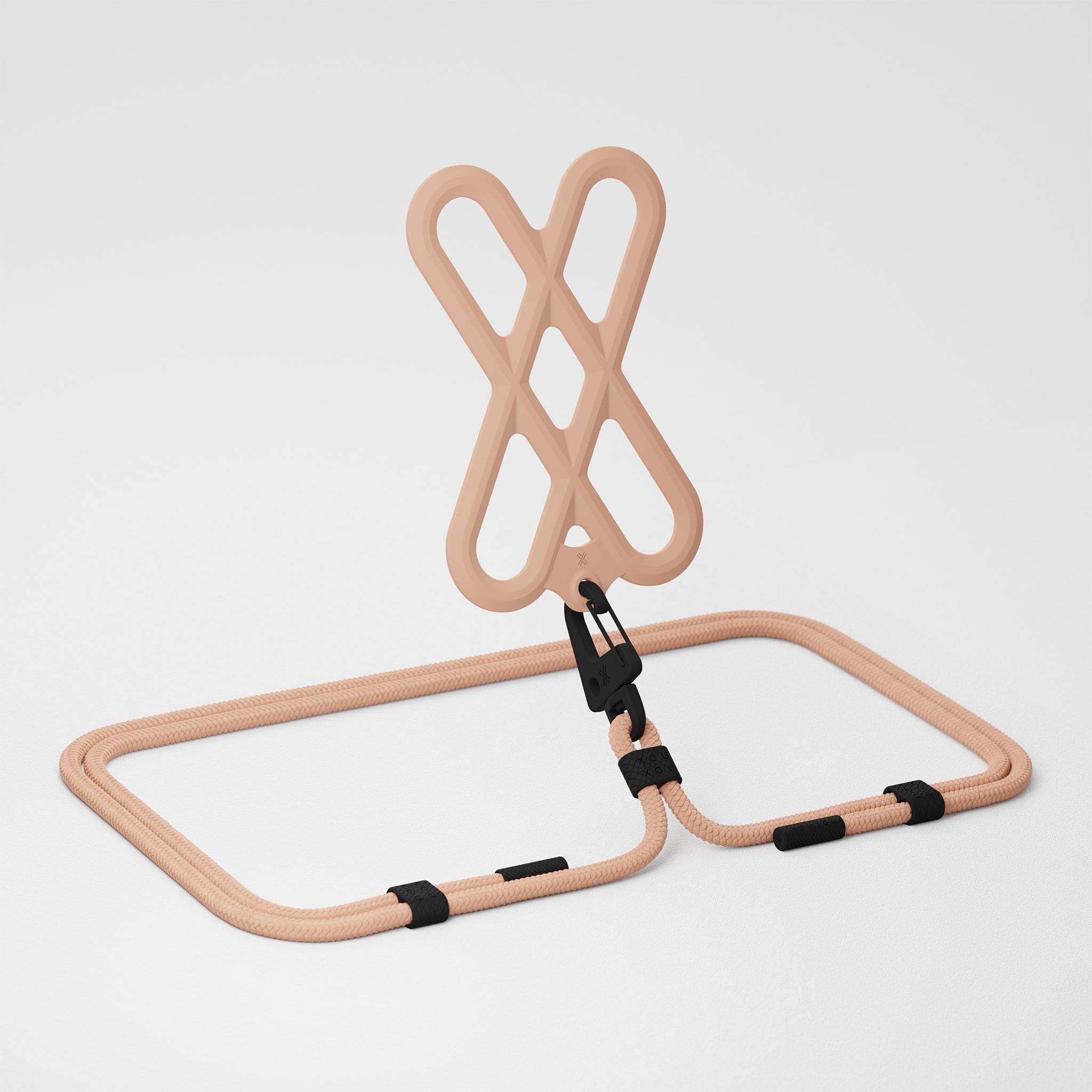Powder Pink Silicone X + Carabiner Rope