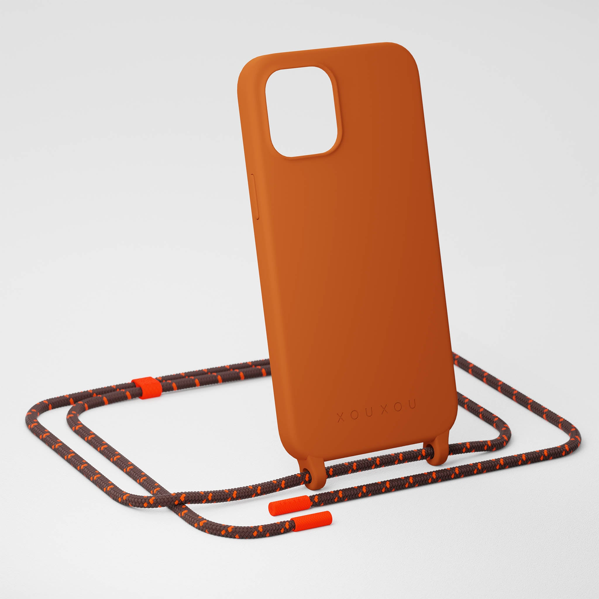 Rusty Red Silicone Case + Chestnut Rope