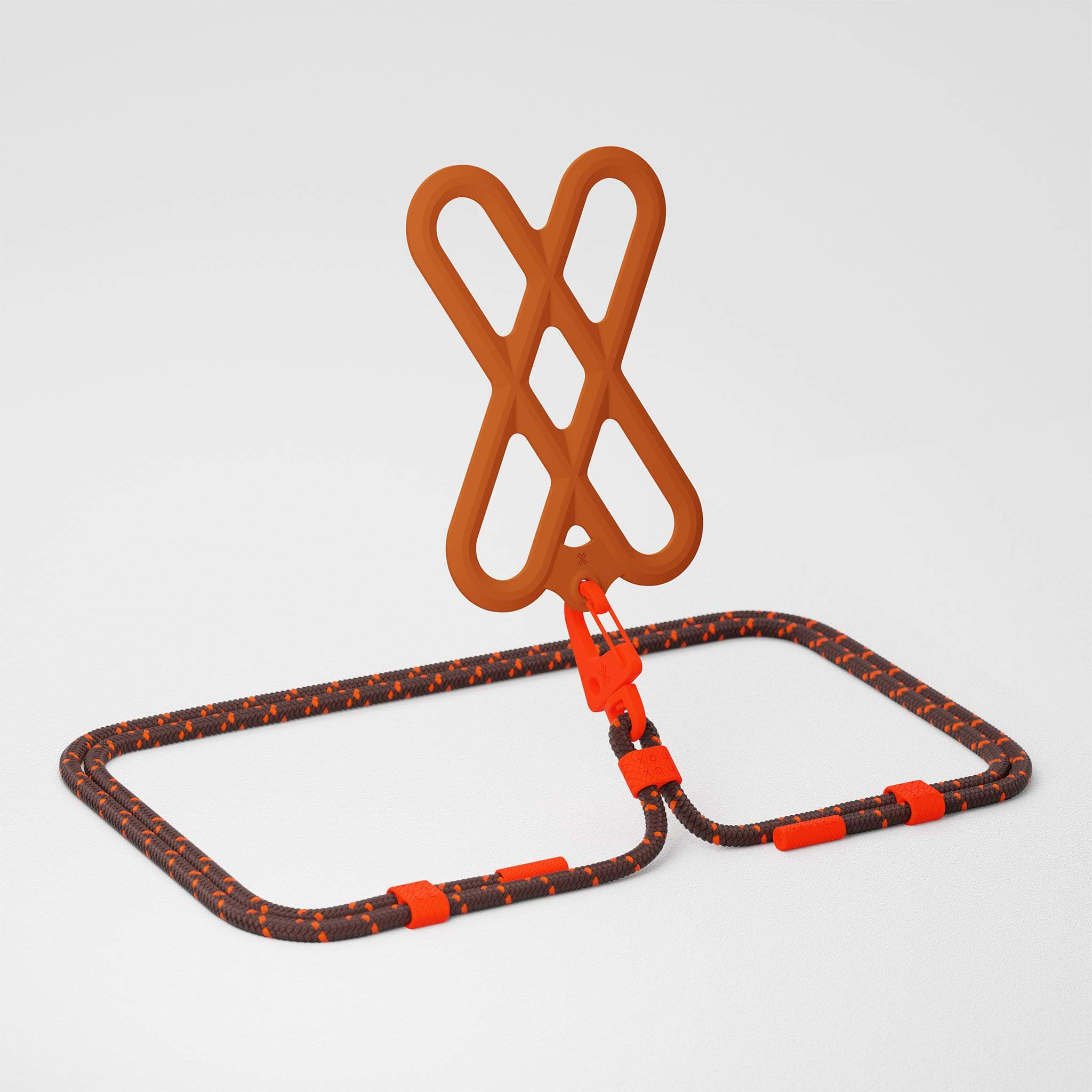 Rusty Red Silicone X + Chestnut Carabiner Rope