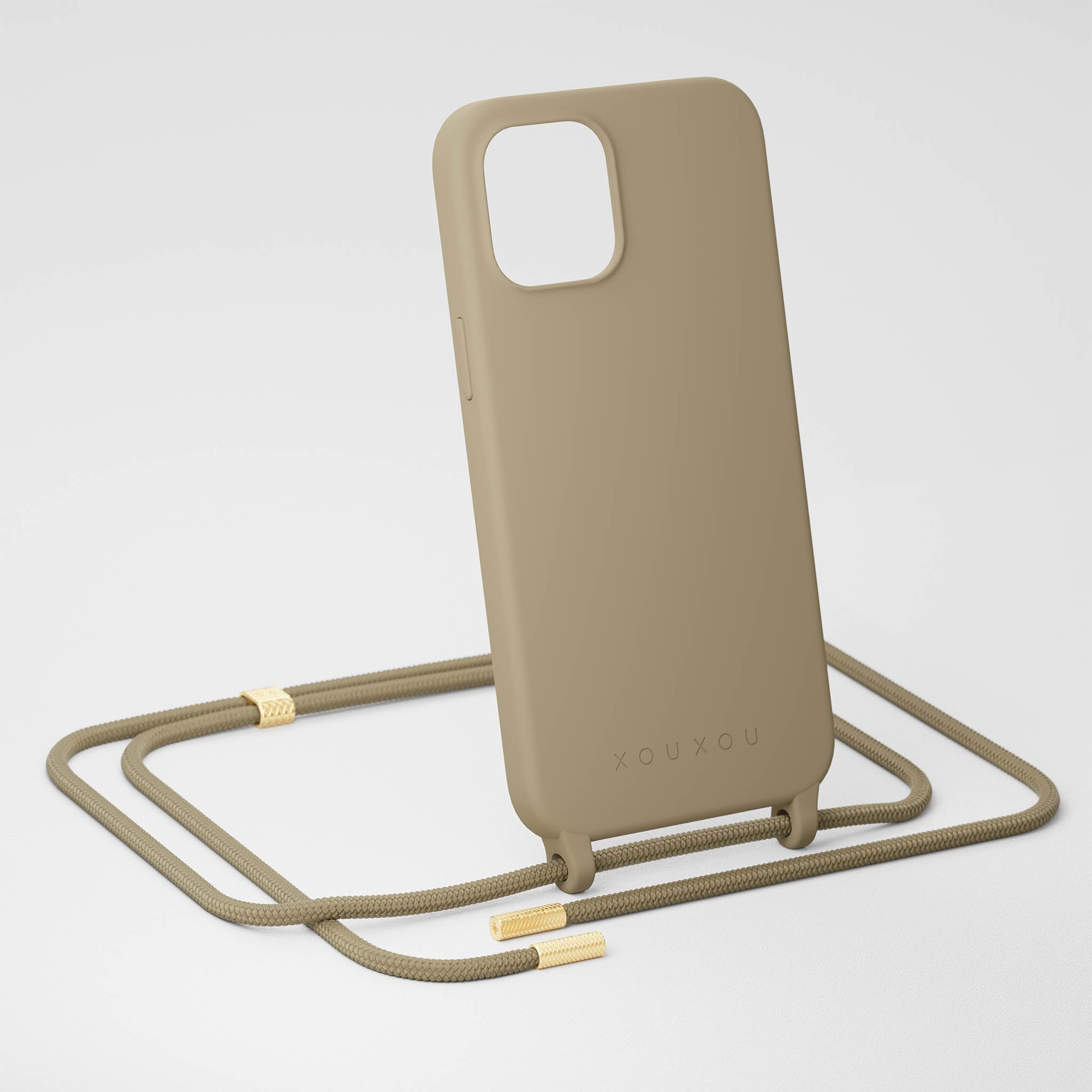 Taupe Silicone Case + Rope