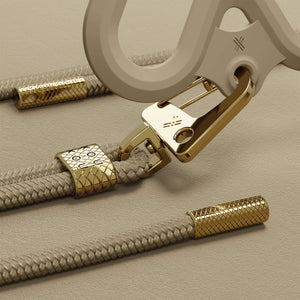 Taupe Silicone X + Carabiner Rope