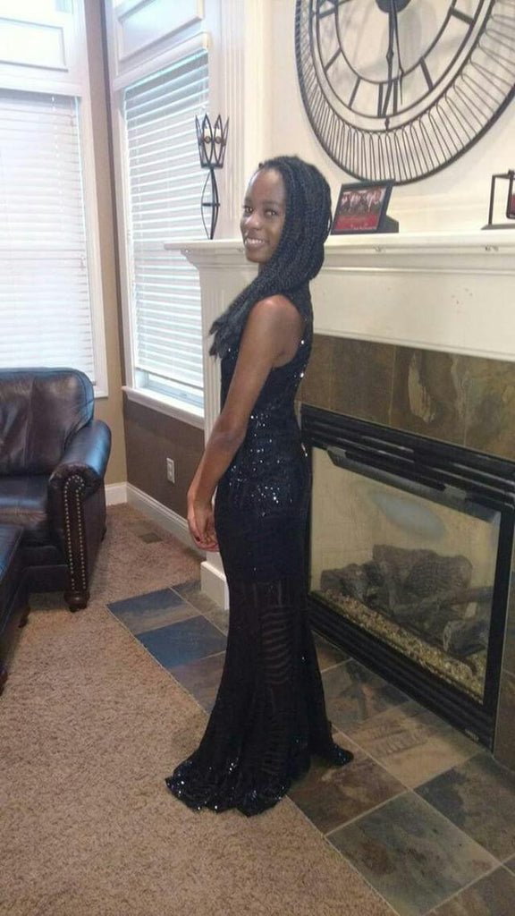 Prom Season Sparkles in Black Sequins