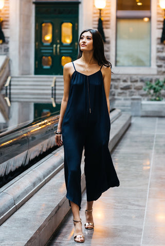 Wide Leg Jumpsuit Midnight Blue