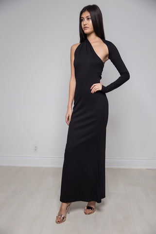 Formal Floor Length One Shoulder Dress
