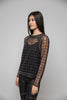 Cosmic Black Mesh Beaded Shirt